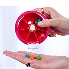 abordables Salud durante el Viaje-Caja de Viaje para Pastillas Portátil Accesorios de Emergencia para Viaje El plastico 9*9*2.2cm cm
