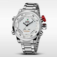 billige Herre Ure-WEIDE Herre Armbåndsur Digital Watch Quartz Digital Japansk Quartz LED Kalender Kronograf Vandafvisende Dobbelte Tidszoner alarmRustfrit