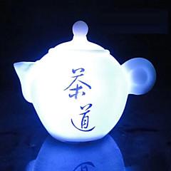 abordables Luces de Interior-creativa de cambio de color de la tetera de siete color llevado lámpara de noche