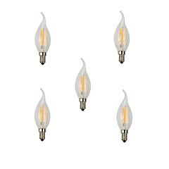 5pcs 4W E14 LED Filament Bulbs CA35 4 High Power LED 360lm Warm White Cold White Decorative AC220-240V