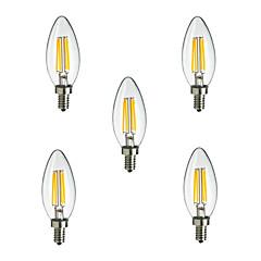 billiga LED-glödlampor-HRY 5pcs 2.5W 250 lm E14 LED-glödlampor CA35 4 lysdioder Högeffekts-LED Dekorativ Varmvit Kallvit AC 220-240V