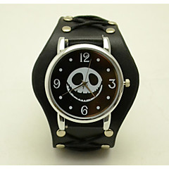 cheap Men's Watches-Unisex Fashion Watch The New Simple Smiley Skull Casual Personality Lace Belt Quartz Watch(Assorted Colors) Cool Watches Unique Watches