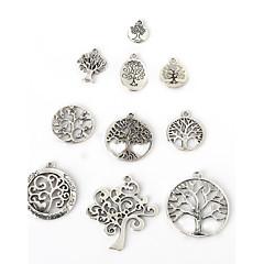 beadia antik ezüst fém medál medálok szerencsés fa DIY ékszer medál