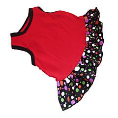 お買い得  犬用ウェア&アクセサリー-犬 ドレス 犬用ウェア 水玉 / 波点 ハート ブラック / レッド コットン コスチューム ペット用 夏 女性用 ファッション