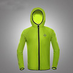 남여 공용 하이킹 자켓 자외선 방지 통기성 탑스 용 캠핑 & 하이킹 피싱 운동&피트니스 사이클링/자전거 달리기 여름 가을 M L XL XXL XXXL