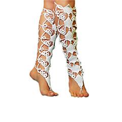 Mujer Brazalete tobillo/Pulseras y Brazaletes Tejido Moda Ajustable Adorable Estilo Simple Blanco De las mujeres Joyas Boda Fiesta Casual