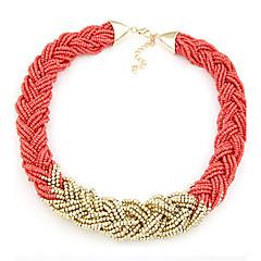 preiswerte Halsketten-Damen Kragen / Statement Ketten  -  Modisch, Fest / Feiertage Grün, Rosa, Regenbogen Modische Halsketten Für Party, Besondere Anlässe, Alltag