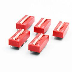 halpa -DIY 8-asemassa 16-pin 2.54mm pitch dip kytkimet (5-osainen pakkaus)