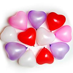 100st Heart Shape Ballonger tillfällen Bröllop Birthday Party Decoration Supplies Ballon Party Decora