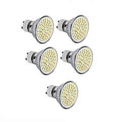 cheap LED Bulbs-5pcs 3.5 W 300-350 lm GU10 / GU5.3(MR16) / E26 / E27 LED Spotlight MR16 60 LED Beads SMD 2835 Decorative Warm White / Cold White 220-240
