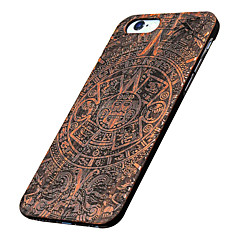 For iPhone 5 etui Mønster Præget Etui Bagcover Etui Imiteret træ Hårdt Træ for AppleiPhone 7 Plus iPhone 7 iPhone 6s Plus/6 Plus iPhone