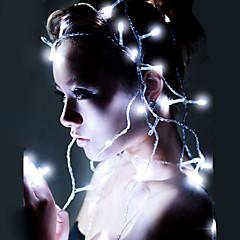 お買い得  LED ストリングライト-10m ストリングライト 80 LED Dip LED 温白色 / RGB / ホワイト 防水 / 充電式 100-240 V / # / IP44