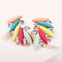 Women's Stud Earrings Fashion European Synthetic Gemstones Resin Rhinestone Alloy Wings / Feather Jewelry For Daily Casual
