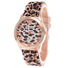preiswerte Tolle Angebote auf Uhren-Damen Armbanduhr Quartz Armbanduhren für den Alltag Silikon Band Analog Leopard Modisch Braun - Weiß Kaffee Ein Jahr Batterielebensdauer / Tianqiu 377