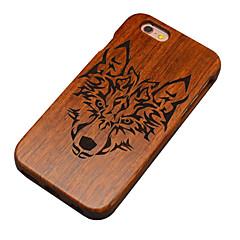 Для Кейс для iPhone 6 Кейс для iPhone 6 Plus Чехлы панели С узором Рельефный Задняя крышка Кейс для Животное Твердый Дерево для Apple