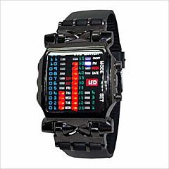 Heren Dames Voor Stel Modieus horloge LED Digitaal Rubber Band Zwart