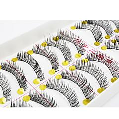 abordables Pestañas Falsas-Pestañas Pestaña Pestañas Completas Ojos / Pestaña Entrecruzadas / Grueso Extendido / Denso Hecho a mano Fibra Black Band 0.10mm 11mm