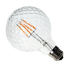 お買い得  LED 電球-1個 4W 300-350 lm E26/E27 フィラメントタイプLED電球 G60 4 LEDの COB 装飾用 温白色 AC 220-240V