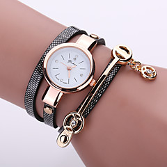 preiswerte Damenuhren-Damen Quartz Armband-Uhr Imitation Diamant Armbanduhren für den Alltag PU Band Freizeit Böhmische Modisch Schwarz Weiß Blau Rot