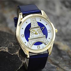 お買い得  大特価腕時計-女性用 ファッションウォッチ クォーツ ブラック / 白 / ブルー ハンズ エッフェル塔 - グリーン ブルー ライトブルー