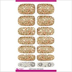 k5627 uñas transferencia de agua pegatinas de arte pétalos metálicos herramientas de diseño de uñas decoración serie de perlas joya