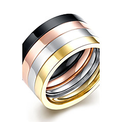 preiswerte Herrenschmuck-Herrn Niedlich / bezaubernd Böhmische Gold / versilbert / Silber Bandring / Statement-Ring / Ring - Quaste / Party / Büro Golden /