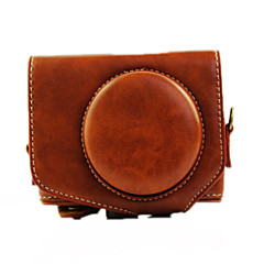 G7X Camera Case (Crazy Horse Leather) For Canon G7X(Black/Brown/Coffee)