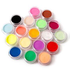 18 színes köröm szobrot faragott akril por 110g