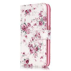 Для Кейс для iPhone 6 / Кейс для iPhone 6 Plus Кошелек / со стендом / Флип Кейс для Чехол Кейс для Цветы Твердый Искусственная кожаiPhone