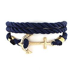billige Herre Smykker-Herre Dame Charm-armbånd Unikt design Mode Nylon Legering Smykker Smykker Til Bryllup Fest Daglig Afslappet Sport