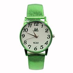 お買い得  レディース腕時計-女性用 ファッションウォッチ クォーツ カジュアルウォッチ レザー バンド キャンディ ブルー レッド ブラウン グリーン ローズ