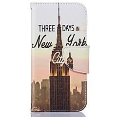 Для Кейс для iPhone 6 / Кейс для iPhone 6 Plus Бумажник для карт / Флип Кейс для Чехол Кейс для Панорама города Мягкий Искусственная кожа