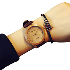 preiswerte Damenuhren-Damen Modeuhr Quartz Armbanduhren für den Alltag Leder Band Analog Blau / Orange / Braun - Kaffee Grün Blau Ein Jahr Batterielebensdauer