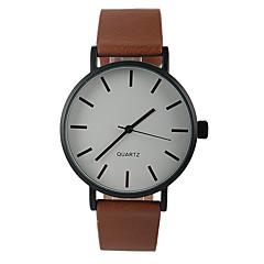 お買い得  大特価腕時計-女性用 クォーツ リストウォッチ カジュアルウォッチ PU バンド チャーム ミニマリスト ファッション ブラウン