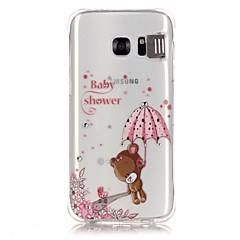 Varten Samsung Galaxy S7 Edge Paljetti LED salamavalo Läpinäkyvä Kuvio Etui Takakuori Etui Piirros Pehmeä TPU varten Samsung S7 edge S7 S6