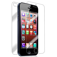 [4-Pack] anteriore e posteriore Retina Screen Protector per iPhone 5/5S