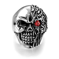 Муж. Кольцо Панк европейский бижутерия Нержавеющая сталь В форме черепа Бижутерия Назначение Halloween Повседневные Спорт Новогодние