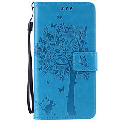 For Samsung Galaxy Note Kortholder Pung Med stativ Flip Præget Etui Heldækkende Etui Træ Blødt Kunstlæder for SamsungNote 7 Note 5 Note 4