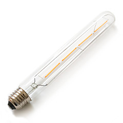 4w e26 / e27 led globe lampor t 4 kolfiber 380lm varm vit 2200k vattentät dekorativa AC 220-240v