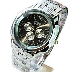 Damen Kleideruhr Armbanduhren für den Alltag Quartz Armbanduhren für den Alltag Edelstahl Band Silber Schwarz Silber Golden