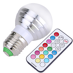 abordables Ampoules LED-E26/E27 Ampoules Globe LED A50 4 SMD 300-450 lm Blanc Froid RVB K Intensité Réglable Commandée à Distance Décorative AC 85-265 AC 100-240