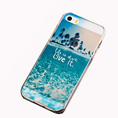 Недорогие Кейсы для iPhone 6 Plus-Кейс для Назначение iPhone 5 Apple Кейс для iPhone 5 С узором Кейс на заднюю панель Пейзаж Мягкий ТПУ для iPhone SE/5s iPhone 5
