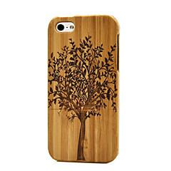 kézzel készített természetes fa test kemény bambusz tok iPhone 5 / 5S