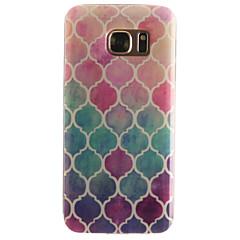 Varten Samsung Galaxy S7 Edge Kuvio Etui Takakuori Etui Geometrinen printti Pehmeä TPU SamsungS7 edge / S7 / S6 edge / S6 / S5 Mini / S5