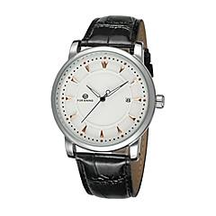 FORSINING Męskie Zegarek na nadgarstek zegarek mechaniczny Nakręcanie automatyczne Kalendarz Skóra Pasmo Ekskluzywne Czarny White Black