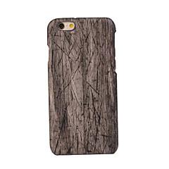 Для Кейс для iPhone 6 / Кейс для iPhone 6 Plus Защита от удара Кейс для Задняя крышка Кейс для Имитация дерева Твердый PC AppleiPhone 7