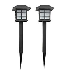 billiga Utomhusbelysning-2-pack sol gräsmatta lampa trädgård spel lätt väg gångväg