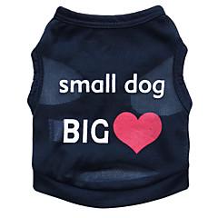 billige Hundetøj og tilbehør-Kat Hund T-shirt Hundetøj Blomster / botanik Sort Blå Lys pink Terylene Kostume For kæledyr Herre Dame Mode