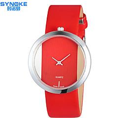 preiswerte Tolle Angebote auf Uhren-SYNOKE Damen Modeuhr Wasserdicht PU Band Freizeit Schwarz / Weiß / Rot / Edelstahl