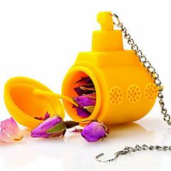 1 개 차 서브 노란 잠수함 느슨한 잎 허브 향신료 주입기 실리콘 향신료